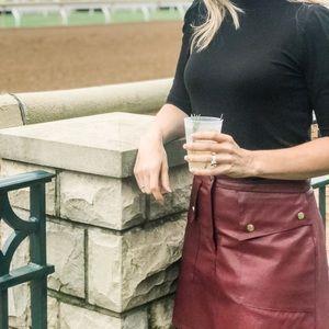 Zara burgundy skirt M Fall 2019